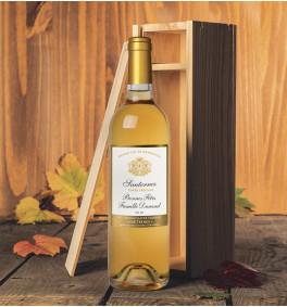 Sauternes personnalisé en caisse bois