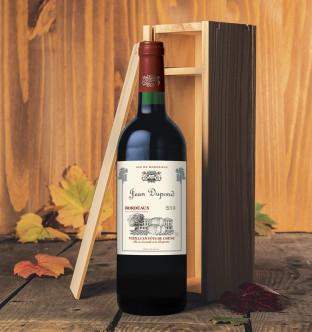 Bordeaux vieilli en fût de chêne 2015 en caisse bois