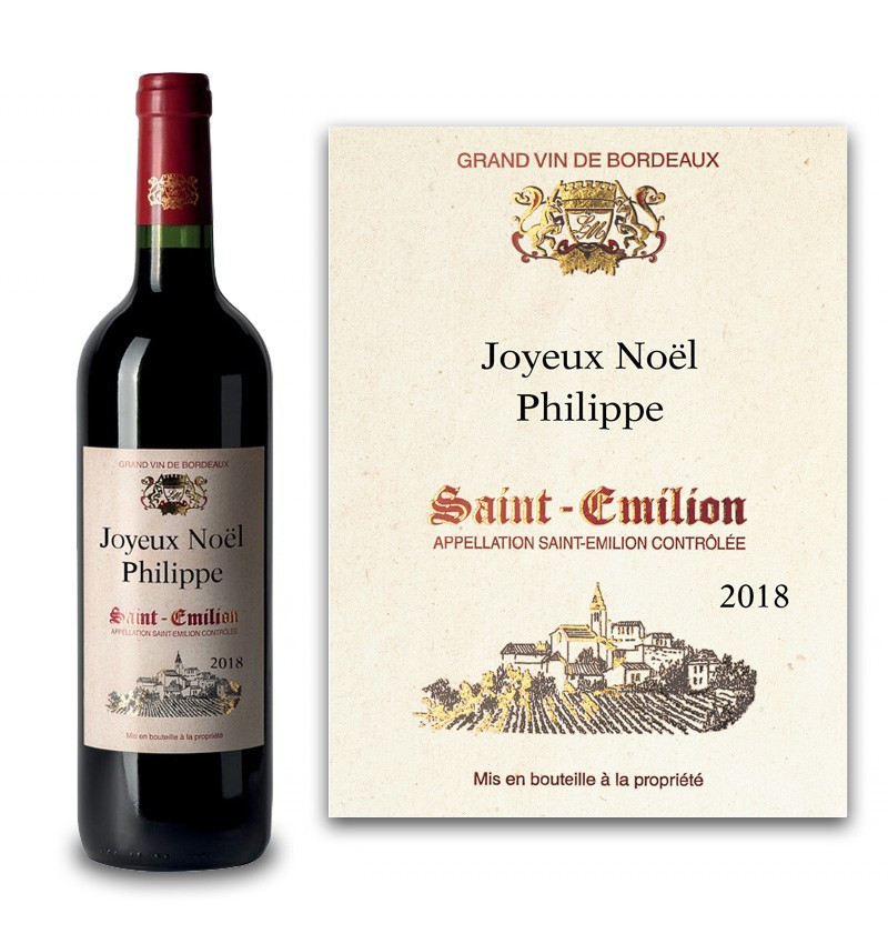 Saint-Emilion AOC 2018 personnalisé