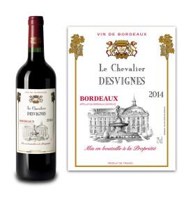 Bordeaux AOC personnalisé Le Chevalier 2014
