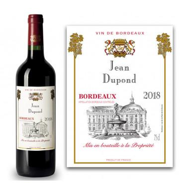 Bordeaux AOC personnalisé Le Chevalier 2018