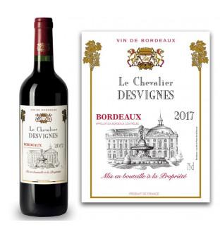 Bordeaux AOC personnalisé Le Chevalier 2017